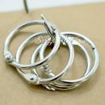 Кольцо разъемное металлическое, цвет серебро, размер 2,5 см., цена 1 шт. IN000812