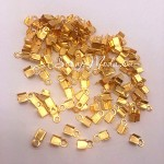 Зажим наконечник-заглушка для резинки или шнура, цвет золото, размер 2x6 мм, IN000817
