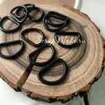 Металлическое полукольцо чёрное, металл, размер 15 мм, толщина кольца 2 мм, цена за 1 шт., IN000841