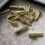 Зажим наконечник для резинок, цвет золото, 2 см., IN000845
