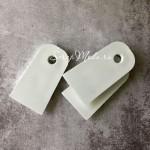 Резиновый Белый шпатель, 4х7 см, IN000849