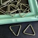 Металлический соединитель треугольник, серебро, размер 24х16 мм, цена за 1 шт., IN000905