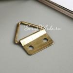 Держатель для лент, Золото, размер 20х24 мм., цена за 1 шт., IN000908