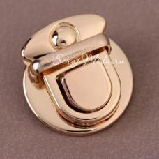 Застёжка для сумки, золото, размер 30х30 мм.,цена за 1 шт., IN000912