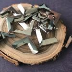 Металлический Уголок для альбома с рельефом, серебро, глубина 3 мм.,  20х20 мм.,  цена за 1 шт.,  IN000921
