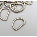 Металлическое полукольцо, серебро, размер 11х16 мм, цена за 1 шт., IN000933