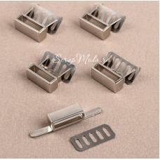 Держатель для ремешка , серебро, размер 18×7 мм, внутр. 16×4 мм, цена за 1 шт., IN000935
