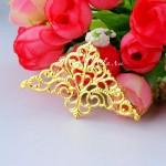 Уголок декоративный, широкий Ажур, цвет: золото, размер 32х50 мм, цена за 1 шт., IN000968