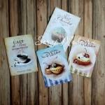 Карточки Cafe de Paris, односторонние, текстура холст, размер 60-90 мм., 4 шт. KA000002
