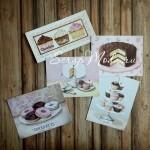 Карточки Кексы, односторонние, текстура холст, размер от 55 до110 мм., 5 шт. KA000003