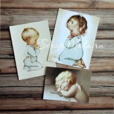 Карточки Малыши, односторонние, текстура холст, размер от 55-90 мм., 3 шт.  KA000005