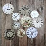 Карточки Часы, односторонние, матовые, диаметр 60 и 45 мм., 10 шт. KA000019