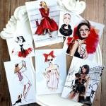 Карточки Fashion, односторонние, матовые,7 шт., KA000034