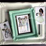 Карточки Girl mini, односторонние, матовые, размер 45х60 мм., 3 шт. KA000040