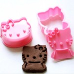 Набор штамп-вырубка для печенья Hello Kitty, размер  57х47 мм. и 54х50 мм., пластик, KO000007