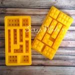 Силиконовая форма Lego, пищевой силикон, размер формочки 90х150 мм., высота 15 мм. KO000014