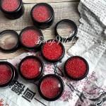 Красный песок с глиттером, упакован в пластиковый контейнер, KR000153