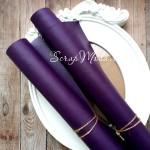 Переплётный кожзам темно-Фиолетовый, отрез размером 33х70 см(+/- 1см), тонкий, KZ000249