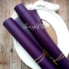 Переплётный кожзам матовый (экокожа), текстура:матовый, Тёмно-Фиолетовый, цена за отрез: 25х70 см, тонкий, толщина 1 мм., LI000345