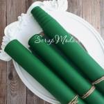 Переплётный кожзам Зелёный, матовый, отрез размером 25х70 см(+/- 1см), тонкий, KZ000243