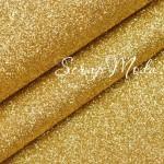Кожзам с глиттером, цвет: Золото, отрез размером 25х34см, тканевая основа, толщина 0,6 мм., DA000664