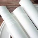 Переплетный кожзам матовый Белый, текстурный, отрез размером 35х70 см(+/- 1см), KZ000050