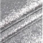Кожзам с крупным глиттером, серебро, отрез размером 35х50см (+/- 2см), KZ000051