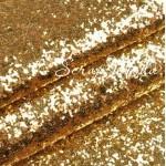Кожзам с крупным глиттером, золото, отрез размером 25х35см (+/- 2см), KZ000054