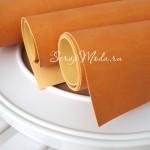 Кожзам Жёлто-оранжевый, матовый, отрез размером 35х50 см(+/- 1см), тонкий, KZ000069