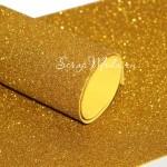 Фоамиран с глиттером, Золото, толщина 2мм, 25х30 см(+/- 1см), KZ000078
