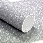 Фоамиран с глиттером, Серебро, толщина 2мм, 25х30 см(+/- 1см), KZ000079