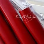 Переплетный кожзам глянец красный, отрез размером 35х50 см(+/- 1см), KZ000080