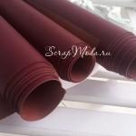 Кожзам цвет Вина, отрез размером 33х70 см(+/- 1см), KZ000089