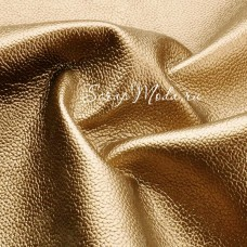 Кожзаменитель Золото, с перламутровым блеском, отрез размером 35х50см., на тканной основе, толщина 0,7 мм., KZ000150