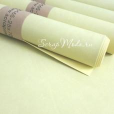 Переплётный кожзам матовый Бледно-жёлтый, отрез размером 25х70 см(+/- 1см), тонкий, KZ000165