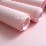 Переплётный кожзам матовый Розовый в мелкое тиснение под кожу, отрез размером 25х70 см(+/- 1см), тонкий, KZ000177