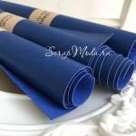 Переплётный кожзам Сочный Синий, матовый, отрез размером 25х70 см(+/- 1см), тонкий, KZ000244