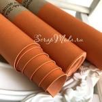 Переплётный кожзам Апельсин, матовый, отрез размером 33х70 см(+/- 1см), тонкий, KZ000247