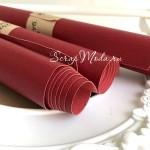 Переплетный кожзам матовый  Красный, текстурный, отрез размером 33х70 см(+/- 1см),  тонкий, KZ000253