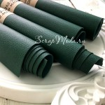 Переплетный кожзам матовый  Зелёный, текстурный, отрез размером 33х70 см(+/- 1см),  тонкий, KZ000263