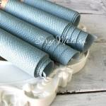 Переплётный кожзам, матовый, текстура:питон, Светло-голубой, отрез размером 33х70 см., KZ000273