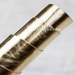 Переплётный кожзам золотой полузеркальный, отрез размером 33х70 см(+/- 1см), тонкий, KZ000287