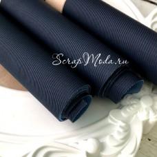 Переплётный кожзам матовый Джинсовый-джинса,  отрез размером 33х70 см(+/- 1см), тонкий, KZ000317