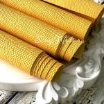 Переплётный кожзам, матовый, текстура:питон, Жёлтый, отрез размером 33х70 см., KZ000339