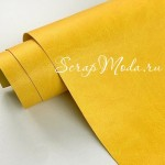 Переплётный кожзам MATTE, цвет:Лимонный, отрез размером 33х70 см(+/- 1см), тонкий, KZ000375