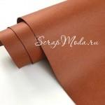 Переплётный кожзам MATTE, цвет:Медно-коричневый, отрез размером 33х70 см(+/- 1см), тонкий, KZ000385