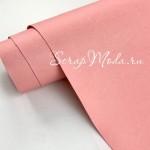 Переплётный кожзам MATTE, цвет:Розовый, отрез размером 33х70 см(+/- 1см), тонкий, KZ000387