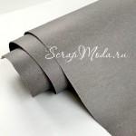 Переплётный кожзам MATTE, цвет:Серый, отрез размером 25х70 см(+/- 1см), тонкий, KZ000395