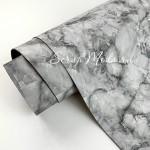Переплётный кожзам Rock Мрамор, цвет:Чёрно-белый, отрез размером 33х70 см(+/- 1см), тонкий, KZ000402