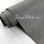 Переплётный кожзам Crump, цвет:Серый, отрез размером 33х70 см(+/- 1см), тонкий, KZ000412